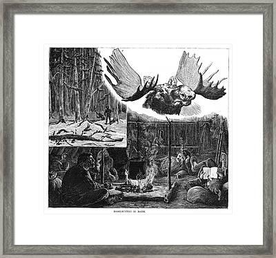 Maine Moose Hunters, 1882 Framed Print