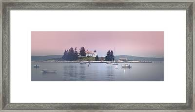 Maine Pumpkin Lighthouse Framed Print