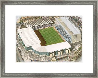 Maine Road - Manchester City Framed Print by Kevin Fletcher