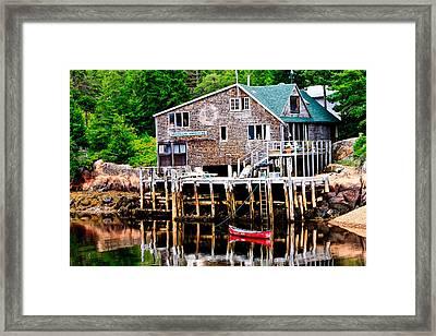 Maine Scene Framed Print