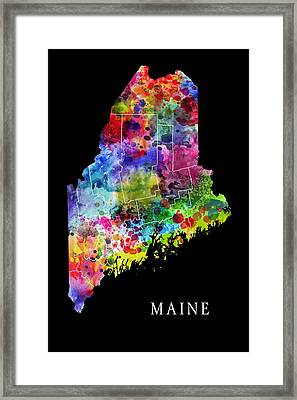 Maine State Framed Print by Daniel Hagerman