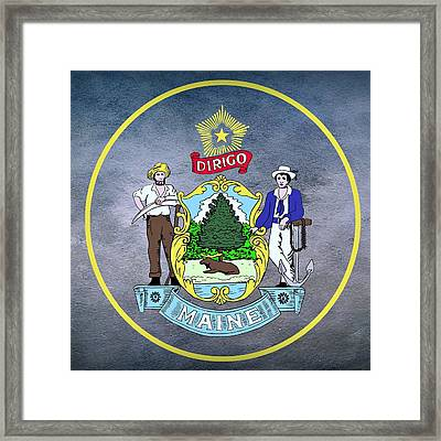 Maine State Seal Framed Print by Movie Poster Prints