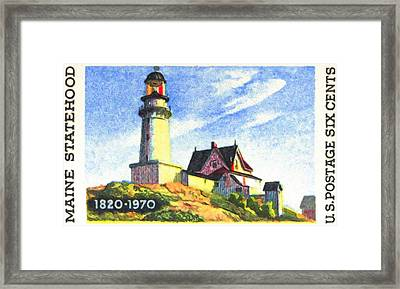 Maine Statehood Framed Print