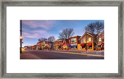 Maine Street Morning Framed Print by Benjamin Williamson