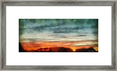 Maine Sunset Framed Print by RC deWinter