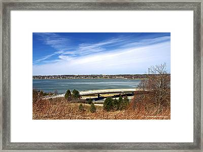 Maine Travel Framed Print by Catherine Melvin