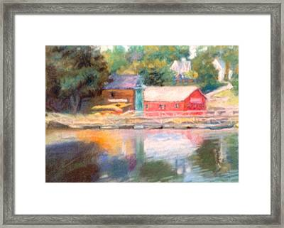 Maine Waterfront Framed Print by Janet McGrath