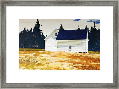 Maine White Framed Print by Len Stomski