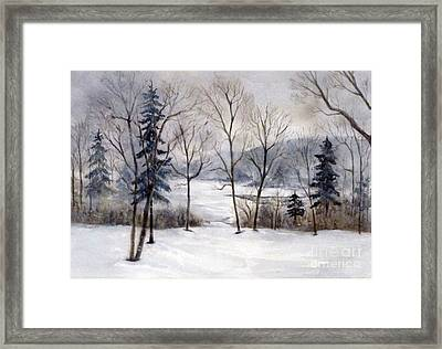 Maine Winter Framed Print