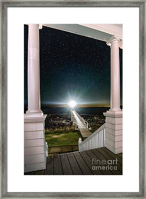 Maines Premier Porch Light Framed Print by Scott Thorp