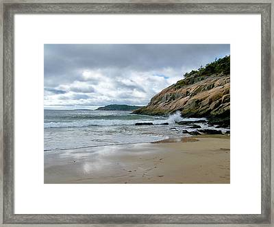 Framed Print featuring the photograph Maine's Sand Beach by Gene Cyr
