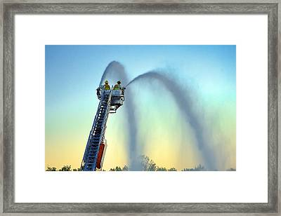Mainstream At Sunset Framed Print
