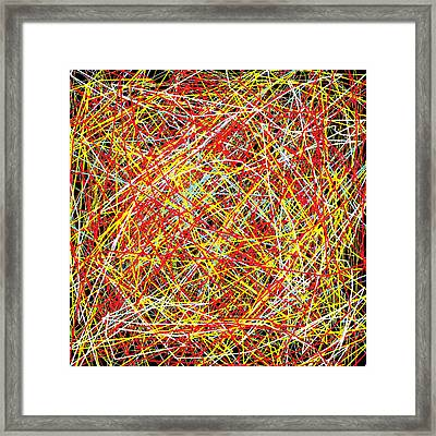 Mainstream Confusion Framed Print