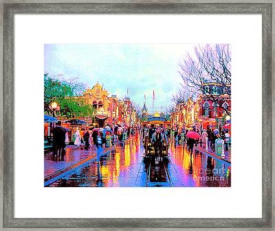 Framed Print featuring the photograph Mainstreet Disneyland by David Lawson