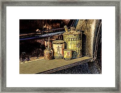 Framed Print featuring the photograph Maintenance by Jay Stockhaus
