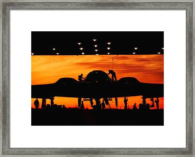Stealth Silhouette Framed Print