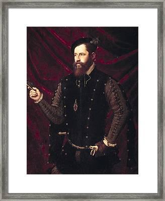 Ma�ip, Vicente 1480-1550. Portrait Framed Print