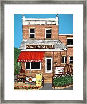 Maison Baguettes Framed Print