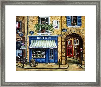 Maison De Vin Framed Print by Marilyn Dunlap