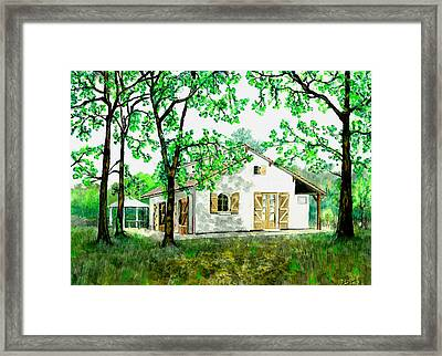 Maison En Medoc Framed Print
