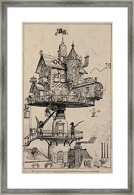 Maison Tournante Arienne 1883 Framed Print