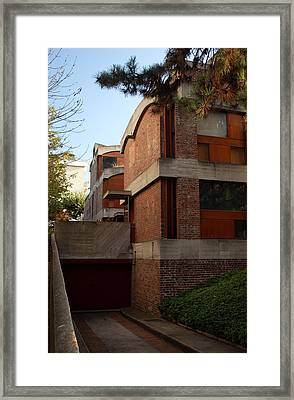 Maisons Jaoul - Le Corbusier Framed Print by Peter Cassidy
