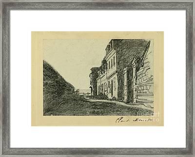 Maisons Pres De La Mer Framed Print by Claude Monet