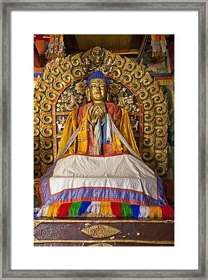 Maitreya Buddha Erdene Zuu Monastery Framed Print by Colin Monteath