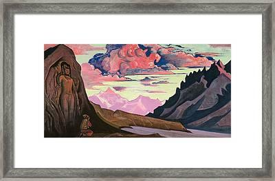 Maitreya The Conqueror Framed Print by Nicholas Roerich