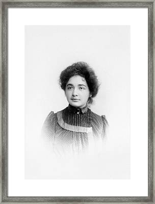Maja Einstein Framed Print by Emilio Segre Visual Archives/american Institute Of Physics