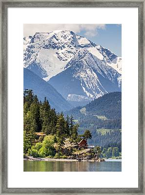 Majestic Anderson Lake Landscape Framed Print by Pierre Leclerc Photography