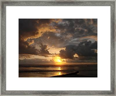 Majestic Sunset Framed Print by Athena Mckinzie
