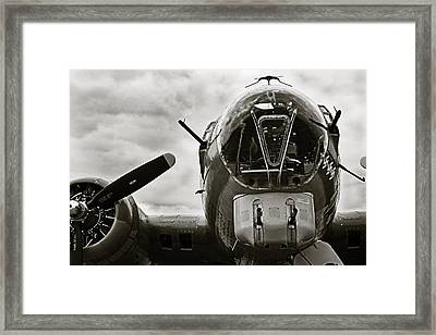Majestic B17 Bomber From Ww II Framed Print by M K  Miller