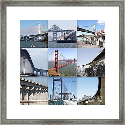 Majestic Bridges Of The San Francisco Bay Area Framed Print