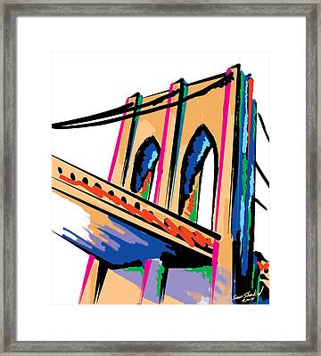 Majestic Brooklyn Bridge Framed Print