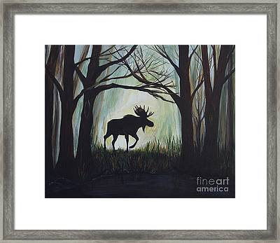 Majestic Bull Moose Framed Print