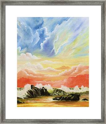 Majestic Clouds Framed Print by Janet Hufnagle