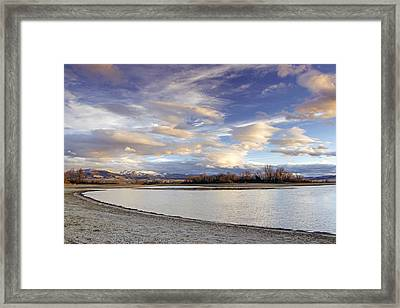 Majestic Clouds Over The Reservoir Framed Print