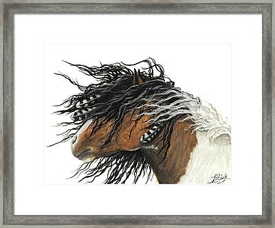 Majestic Curly Horse Framed Print by AmyLyn Bihrle