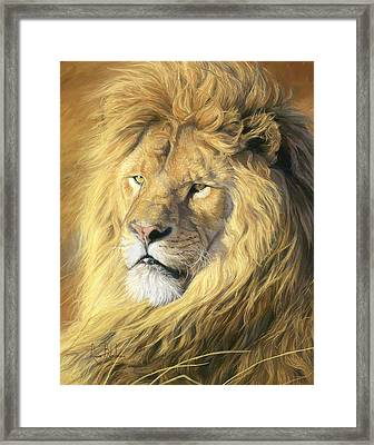 Majestic - Detail Framed Print by Lucie Bilodeau