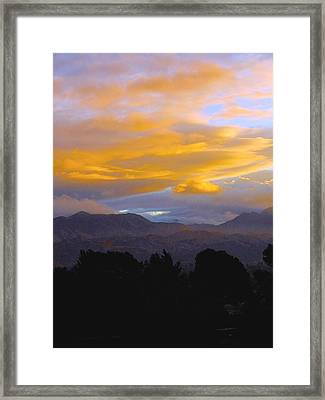 Majestic Earth And Sky Framed Print