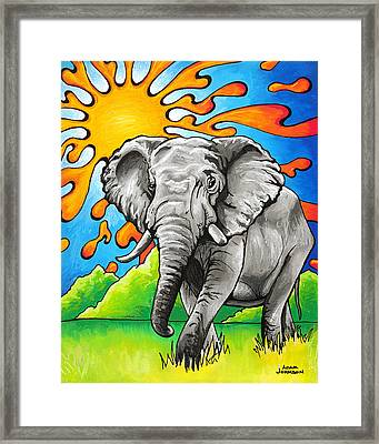 Majestic Elephant Framed Print