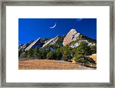 Majestic Flatirons Of Boulder Colorado Framed Print