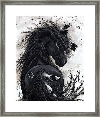 Majestic Friesian Horse 45 Framed Print