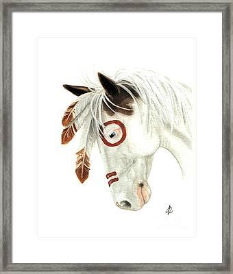 Majestic Horse Medicine Hat 41 Framed Print by AmyLyn Bihrle
