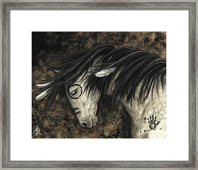 Majestic Dapple Horse Framed Print by AmyLyn Bihrle