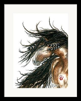 Buckskin Horse Framed Prints