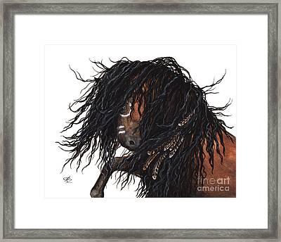 Majestic Kiger Mustang Horse 28 Framed Print
