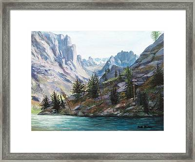 Majestic Montana Framed Print by Patti Gordon