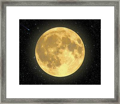 Majestic Moon Framed Print by Dave Lee
